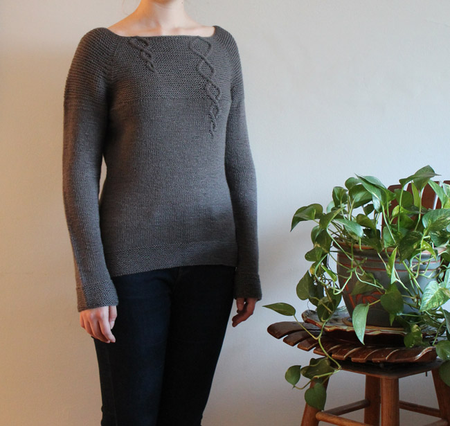 Grey Cables Pullover