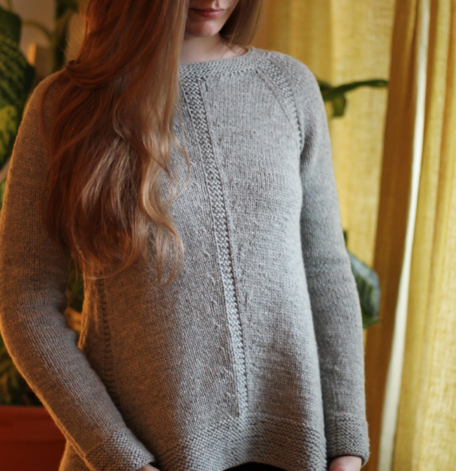 Grey Sweater Front