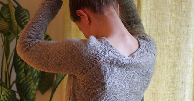 Grey Sweater back detail