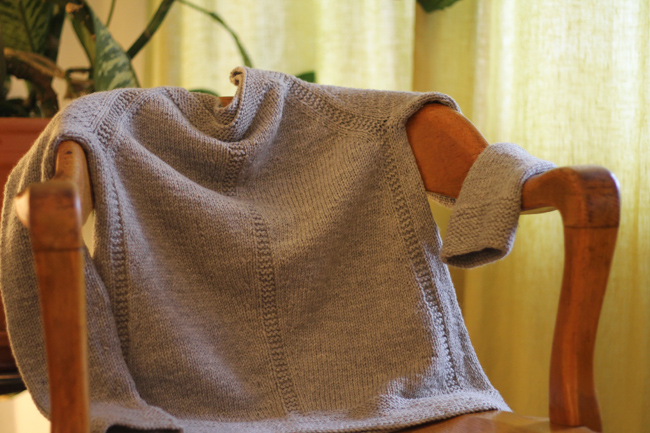 Grey Sweater on Chair