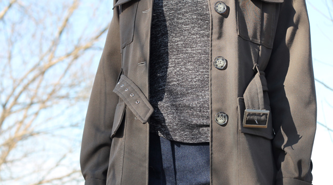 Jacket open detail