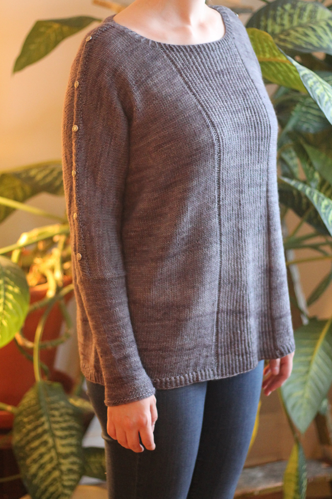 knit mauve sweater